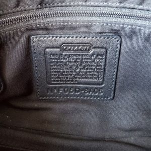 Coach Bags - Black Rectangle Coach Bag with Stitching